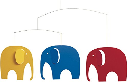 Flensted Mobiles Flensted Mobiles Elephant Party Hanging Nursery Mobile - 25 Inches -