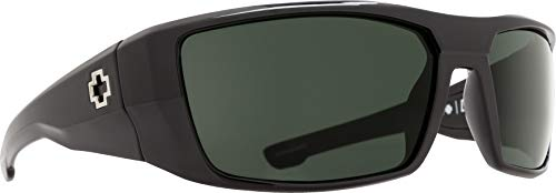 Spy Optic menswomen's Dirk Wrap, Matte Black Frame/Grey Lens, one Size