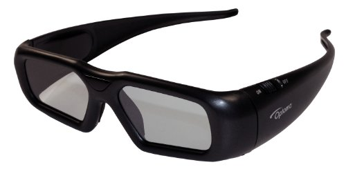 Optoma ZF2300GLASSES Active Shutter Rechargeable 3D RF Glasses (One Size Fits All) by Optoma