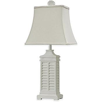Coastal shutter table lamp white amazon coastal shutter table lamp white aloadofball Images
