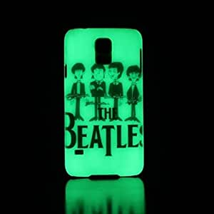 The Beatles Pattern Glow in the Dark Hard Case for Samsung Galaxy S5