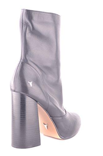 Windsor Smith Damen Mcbi372003o Schwarz Leder Stiefeletten