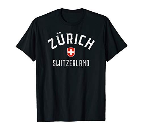 Zurich Switzerland T Shirt - Swiss Flag Zurich Tee ()