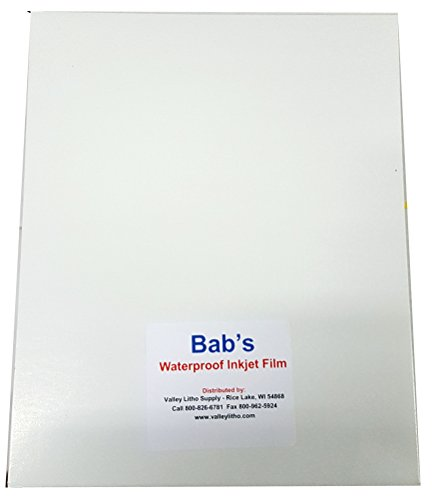 BAB'S Waterproof Inkjet Positive Film 13'' x 19'' (50 Sheets) by BAB'S