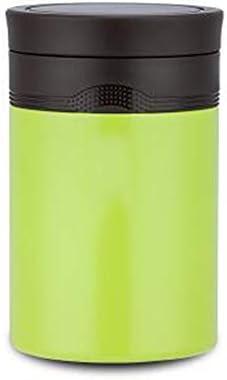 ステンレス鋼のシチュー鍋、学生保温弁当箱ランチボックス、大人熱いお粥バケット保温バケットシチュービーカー500ミリリットル JINHAN (Color : White)