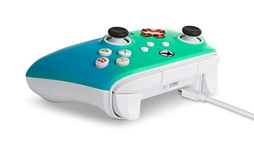 PowerA Enhanced Wired Controller for Xbox – Seafoam Fade, Gamepad, Wired Video Game Controller, Gaming Controller, Xbox Series X|S, Xbox One – Xbox Series X (Only at Amazon) 317hMjH2vOL
