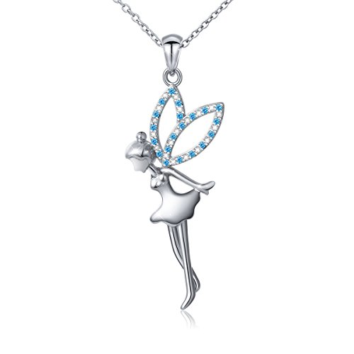 S925 Sterling Silver Fairy with Angel Wings Jewelry