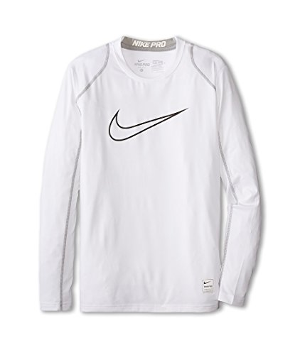 b7f074b34 Nike Pro Big Kids' (Boys') Long Sleeve Training Top Shirt (Large,  White/Matte Silver/Black) - Buy Online in UAE. | Sports Products in the UAE  - See Prices, ...