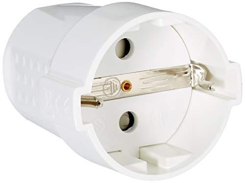 Silver-Electronics-9261-Clavija-Hembra-con-proteccion-Blanco