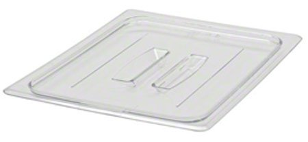 Cambro 20CWCH135 Camwear Clear Food Pan Cover 1/2 Size Flat With Handle- Case of 6 by Cambro
