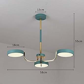 Colored Macaron LED Chandelier Ceiling Light, Wrought Iron Hanging Light for Living Room Dining Room Pendant Light, Neutral Light 111-240V,7