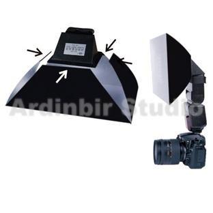 Ardinbir Universal Flash Softbox Diffuser for Canon, Nikon, Leica, Sony, Olympus, Vivitar, Pentax, Metz, Panasonic, Kodak, Sigma, Nissin, Sunpak External Speedlite Flash; Large Size