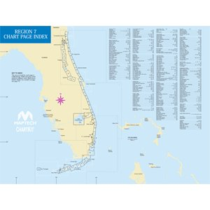 MAPTECH PAPER CHARTS Maptech ChartKit Book w/Companion CD - Florida East Coast & The Keys ()