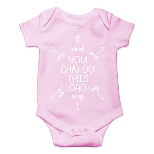 Newborn Creeper Suit - You Can Do This Dad - First Time Dad Gift - Funny Cute Novelty Infant Creeper, One-Piece Baby Bodysuit (Pink, Newborn)