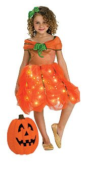 (Pumpkin Princess FIBER OPTIC Costume (SMALL 4-6) -)