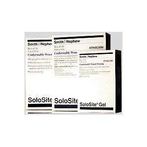 Gel Conformable Wound Dressing - Smith & Nephew 5459482300 Solosite 2 x 2 Inch Gel Conformable Dressing - Box of 10 by Solosite
