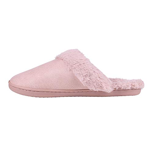 Beslip Pink Fleece Home Foam Memory Soft Winter Warm Slippers Women's House Slipper Z6r4xZq