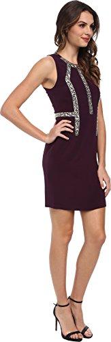 Rebecca Taylor Women's Sleeveless Shift w/ Inset Beading Plum Dress 0