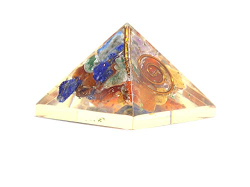 (Jet Energized Handmade Chakra Single Baby Pyramid 20-25 mm Prosperity Mental Peace EMF Protection Crystal Therapy Booklet IMAGE IS JUST A REFERENCE)