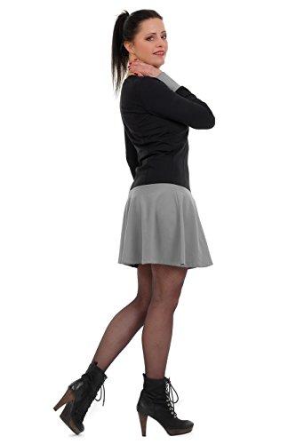 Manga Tutu Larga Gris Vestido Mujer 3elfen Vestidos Mini Iaqx7nnwA