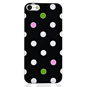 JOE Pink Glossy Polka Dots Hard Plastic Case Cover Skin Protector for iPhone 5 , Pink