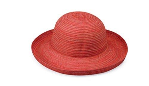 Wallaroo Hat Company Women's Sydney Sun Hat - Lightweight, Packable, Modern Style, Designed in Australia, Red ()