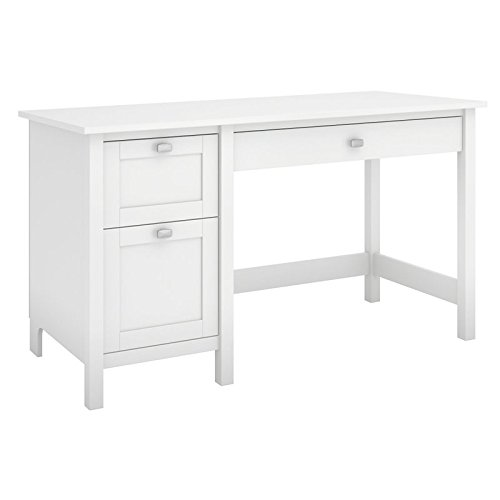 view Computer Desk with Drawers in Pure White ()