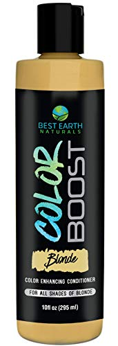 Best Earth Naturals Color Boost Blonde Color Enhancing and Depositing Conditioner for Women and Men; Color: for All Shades of Blonde 10 Ounces