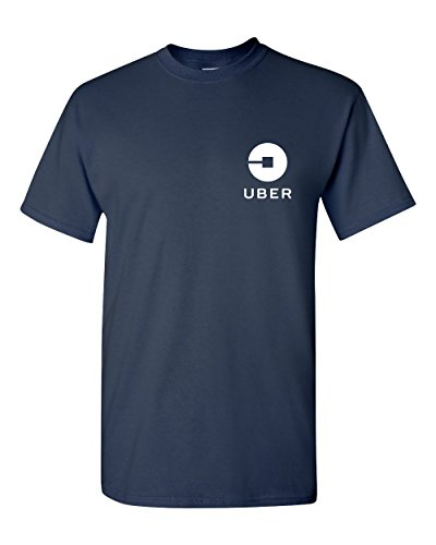 Uber Driver New Logo Men's Gildan T Shirt Tee   Navy Blue