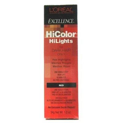 Loreal Excel Hicolor Clous 1,2 oz Rouge
