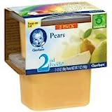 Gerber 2nd Foods NatureSelect Baby Food, Pears, 2 ea