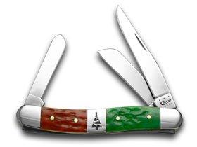Stockman Jigged Red (CASE XX Red Bright Green Jigged Bone Christmas Stockman Pocket Knife Knives)