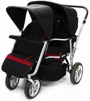 Amazon.com : Triplets Jogging Stroller : Triple Stroller : Baby