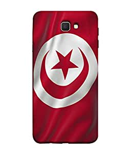 ColorKing Football Tunisia 01 Red shell case cover for Samsung On7 Prime