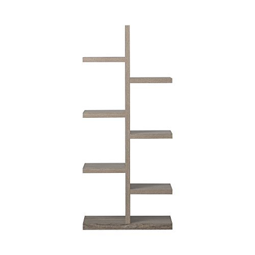 Homestar 7-Shelf Bookcase in Reclaimed Wood by Home Star