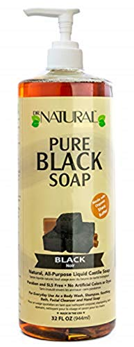 Dr. Natural Pure Black Soap With Shea Butter, 32 Ounce