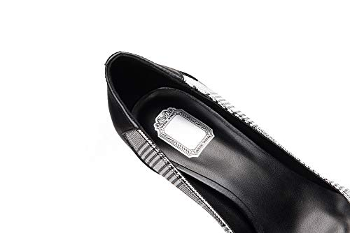 SDC06053 AdeeSu Noir Sandales Compensées Noir 5 Femme 36 drrna6q