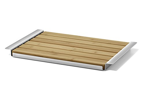 ZACK 20872 ORIGINAL ''PANAS'' Removable Breadboard With Tray, Stainless Steel by Zack