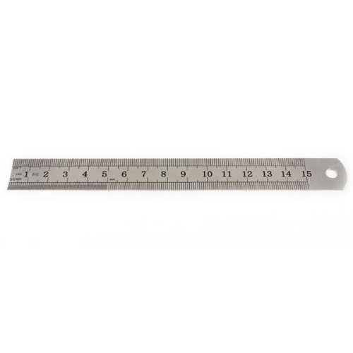 TOOGOO(R) Stainless Steel Measuring Ruler Rule Scale Machinist Tools 15cm 6 inch SHOMAGT1343