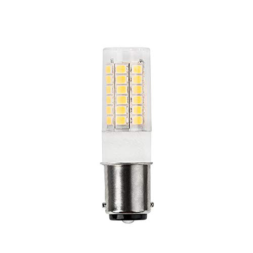DengTA 1004 1142 1076 BA15D LED Replacement Bulbs for Marine Boat Navigation Anchor Stern Lights and RV Lights 2 Bottom Contacts Bayonet Base (1 Pack 3-Watt, Warm White)