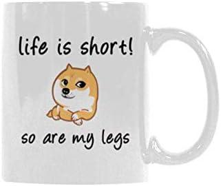 Amazoncom Funny Quotes Life Is Short So Are My Legs Cute Corgi
