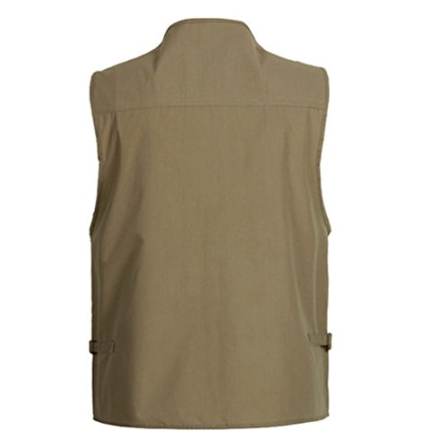 Oversize Séchage Sports Kaki Sentao L'extérieur À Jacket Rapide Photographie poche Multi Gilet Avec YZ5wdq5