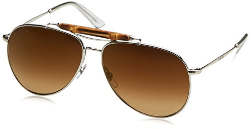 Gucci GG 2235/S 0104D (Silver with Brown Gradient with Gold mirror effect lenses)