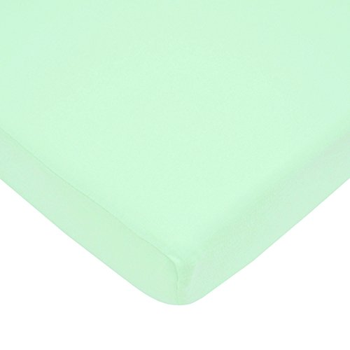 American Baby Company 100% Cotton Value Jersey Knit Fitted Portable/Mini-Crib Sheet, Mint