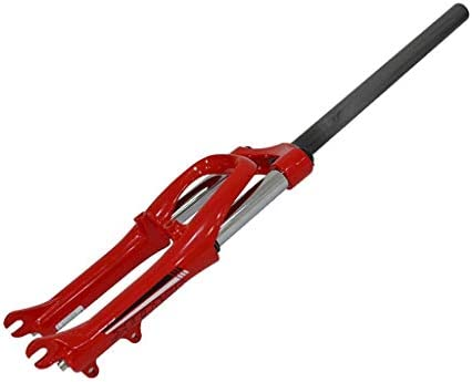 """SN 20インチMTBサスペンションフォーク、マウンテンバイク1-1 / 8""""折りたたみ小型ホイール自転車アルミ合金フォーク (Color : Red, Size : 20inch)"""