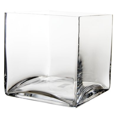 CYS EXCEL Cube Vase, Crystal Clear Glass Vase, Vase For Decor, Vases For Flowers, (Pack of 2) Multiple (Cubic:8