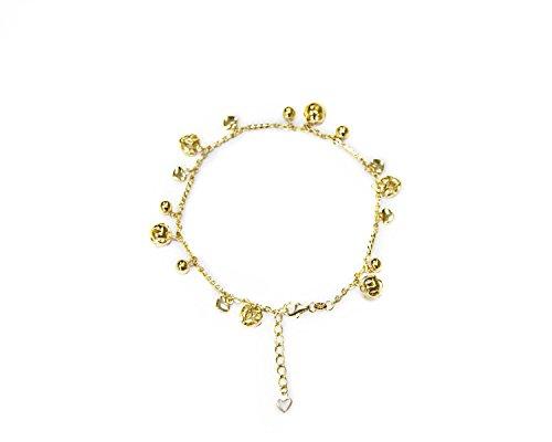 Genuine 14 K gold anklet bracelet 8'' by Unknown