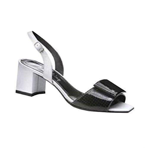 IAW Sandalette schwarz - Sandalias de vestir de cuero para mujer Negro