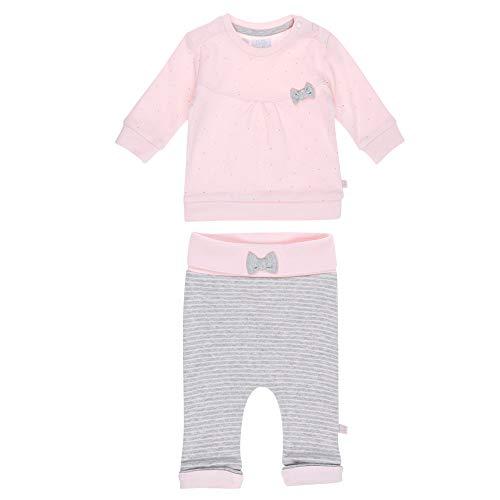 d37b32fdcc Feetje zweiteiliger Sweatanzug für Mädchen rosa Shirt mit kleinem  Punkte-Allover und gestreifte Sweathose mit rosafarbener Gesäßtasche 96%  Baumwolle, ...