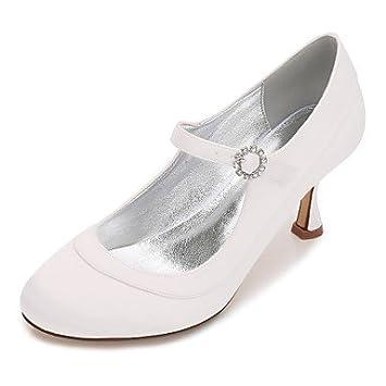 RTRY Les Chaussures De Mariage En Satin Confort Spring Summer Wedding Party &Amp; Tenue De Soirée Bowknot Strass Bleu Champagne Télévision Heelivory Ruby Blue Us9.5-10 / Eu41 / Uk7.5-8 / Cn42 2TpeGDhJRF